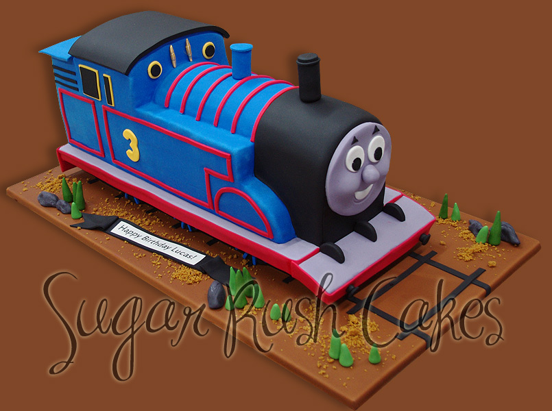 Pleasing Thomas The Train Sugar Rush Cakes Personalised Birthday Cards Paralily Jamesorg