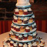 Cupcake tower with cake