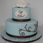 Elegant initials cake