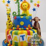 Kids animal theme cake