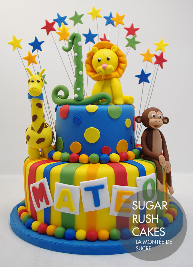 Kids animal theme cake