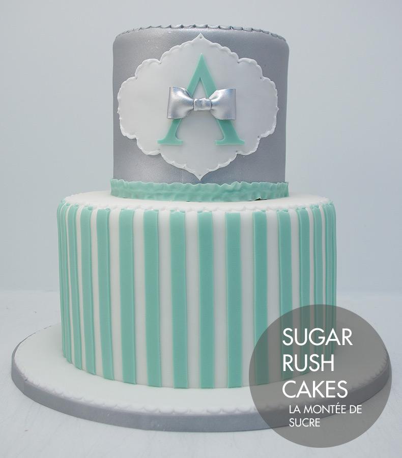 Elegant Baptism Cake