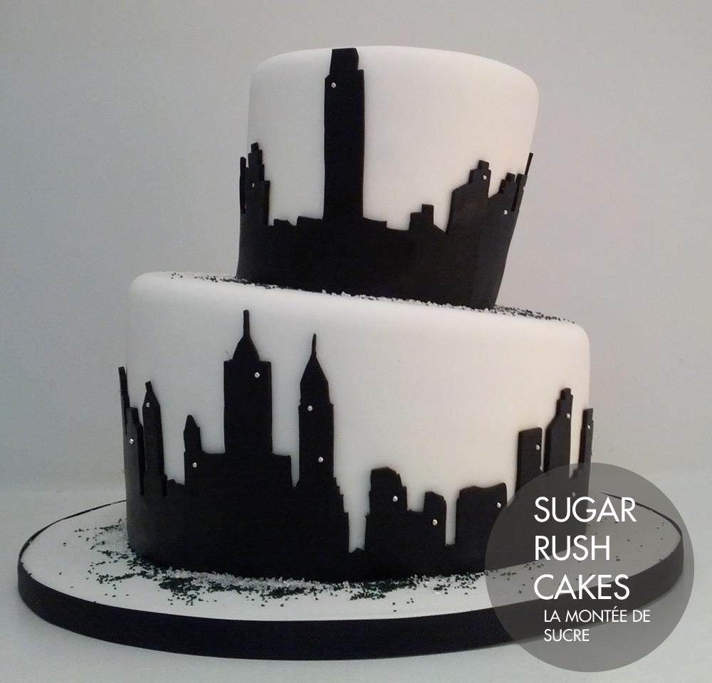 Cityscape cake