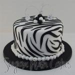 Zebra pattern cake
