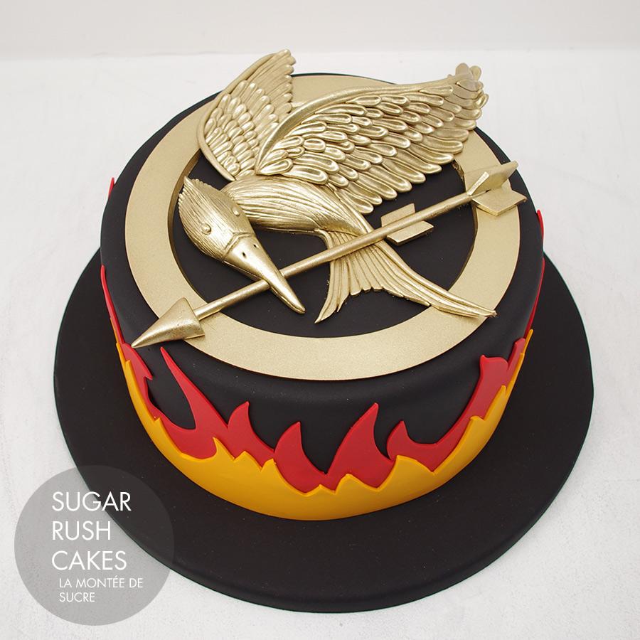Fantastic Hunger Games Cathing Fire Cake Sugar Rush Cakes Funny Birthday Cards Online Elaedamsfinfo