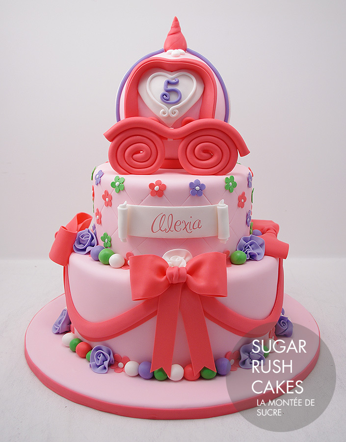 Pink carriage cake