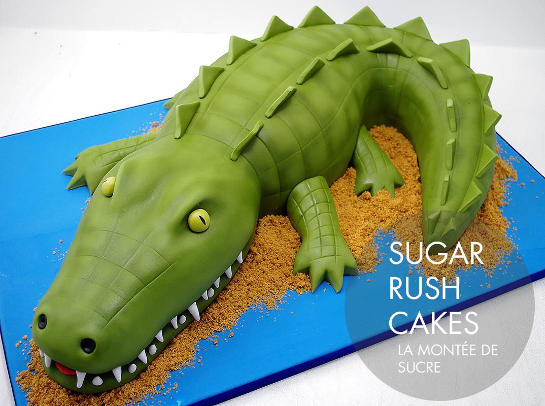 Alligator / crocodile cake