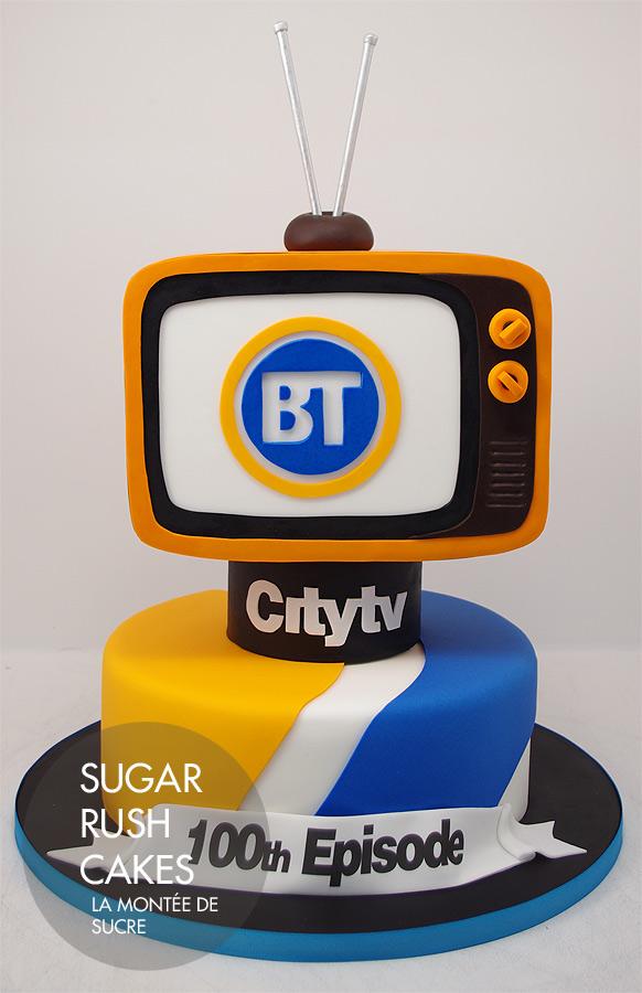 Breakfast television cake