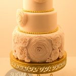 Rose ruffle wedding cake
