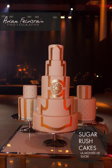 Tripple gold wedding cake