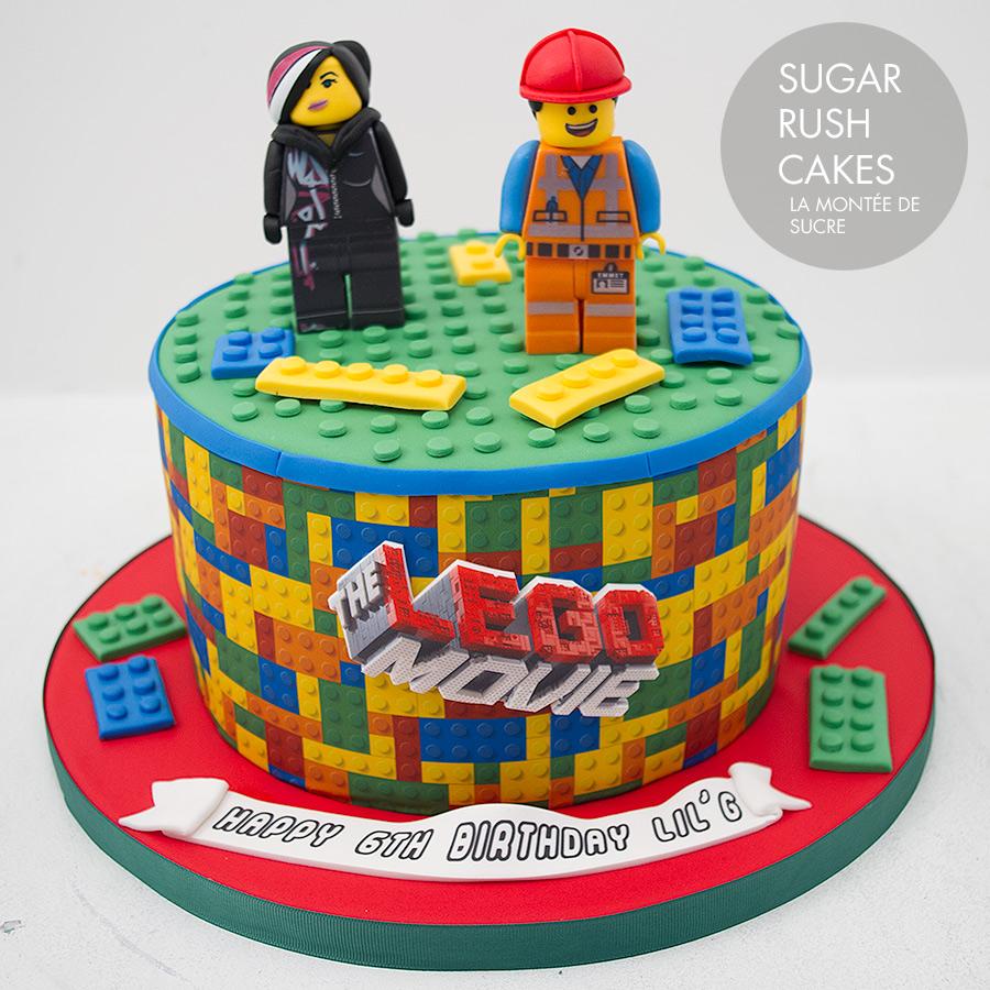 Super Lego Movie Cake Sugar Rush Cakes Birthday Cards Printable Trancafe Filternl
