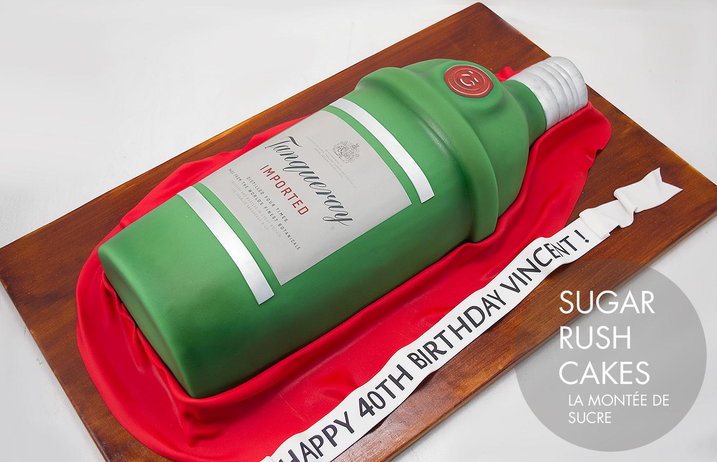 tanqueray gin cake
