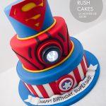 Tiered Super hero cake