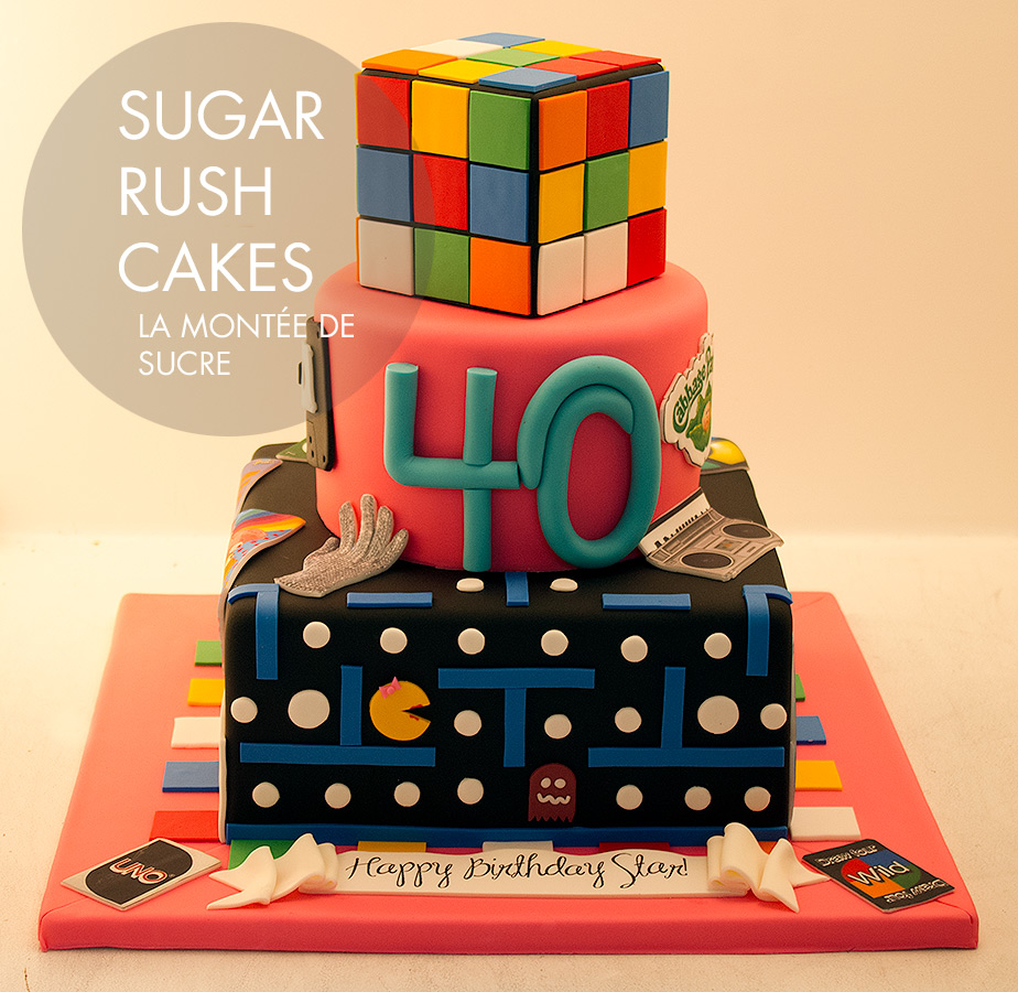 Incredible 80S Themed Cake Sugar Rush Cakes Funny Birthday Cards Online Barepcheapnameinfo