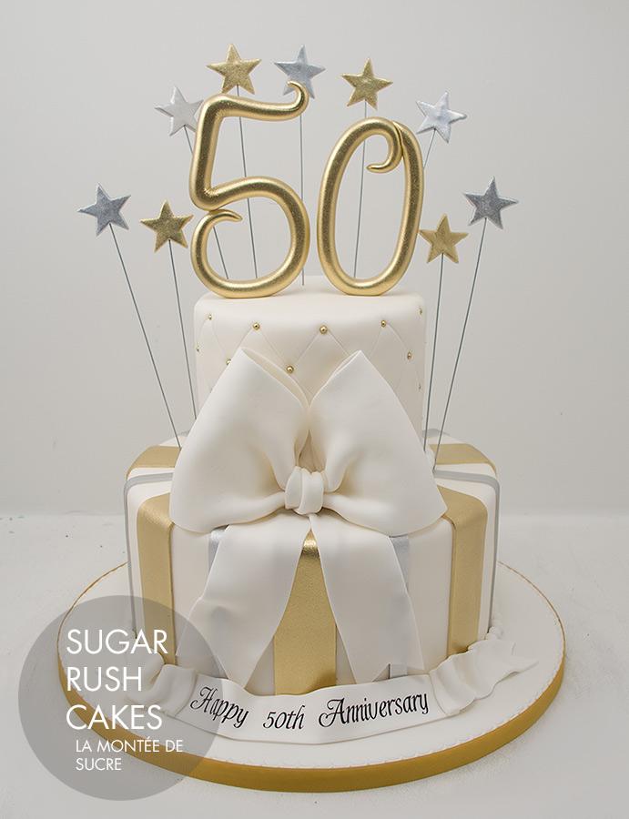 Tiered anniversary cake