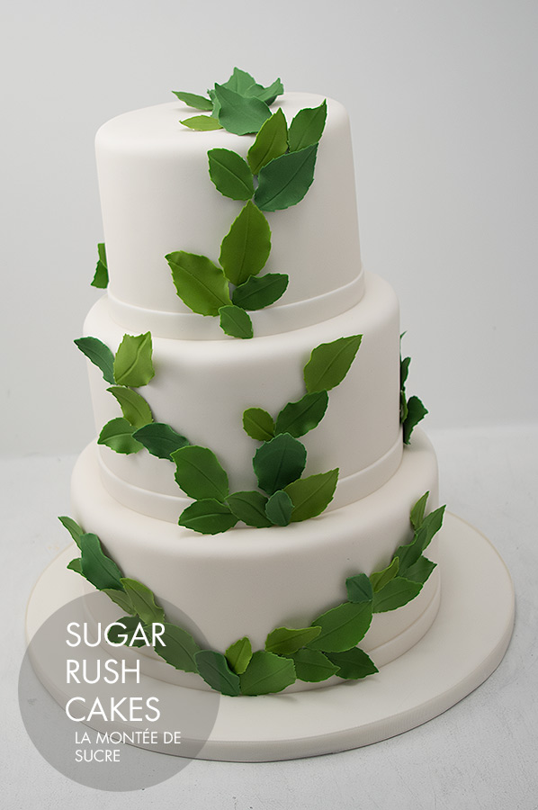 Leaf wedding cake
