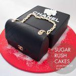 Chanel purse cake