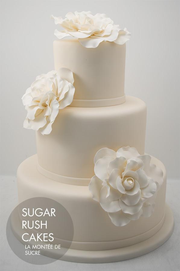 giant rose wedding cake