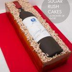 Opus one wine bottle cake