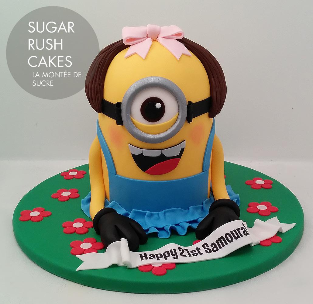 Lady Minion Cake
