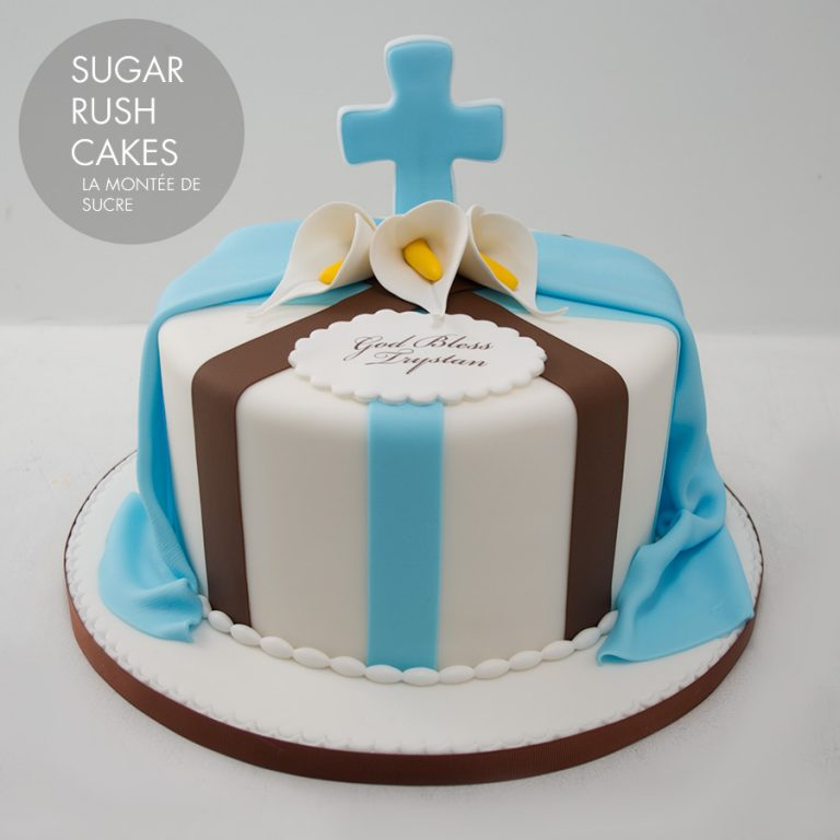 Baptism cake for 8