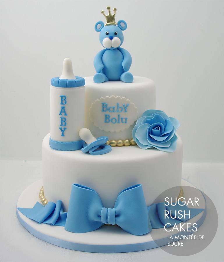 King bear baby shower cake