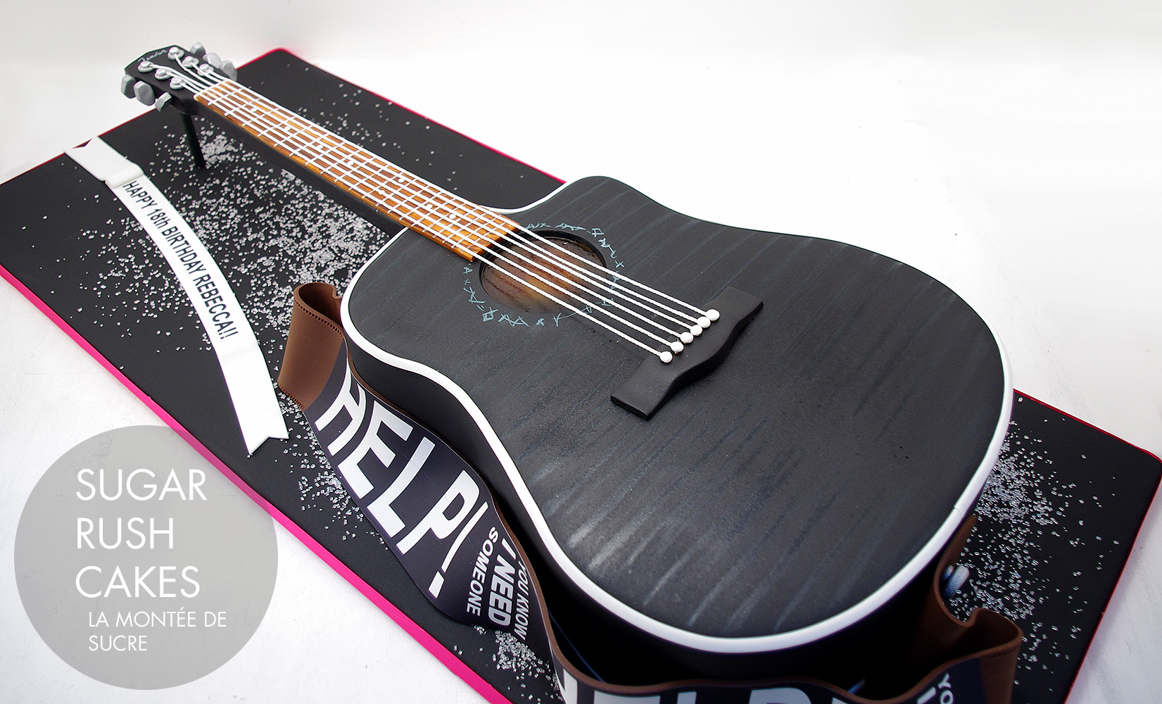 Fender acoustic guitar cake