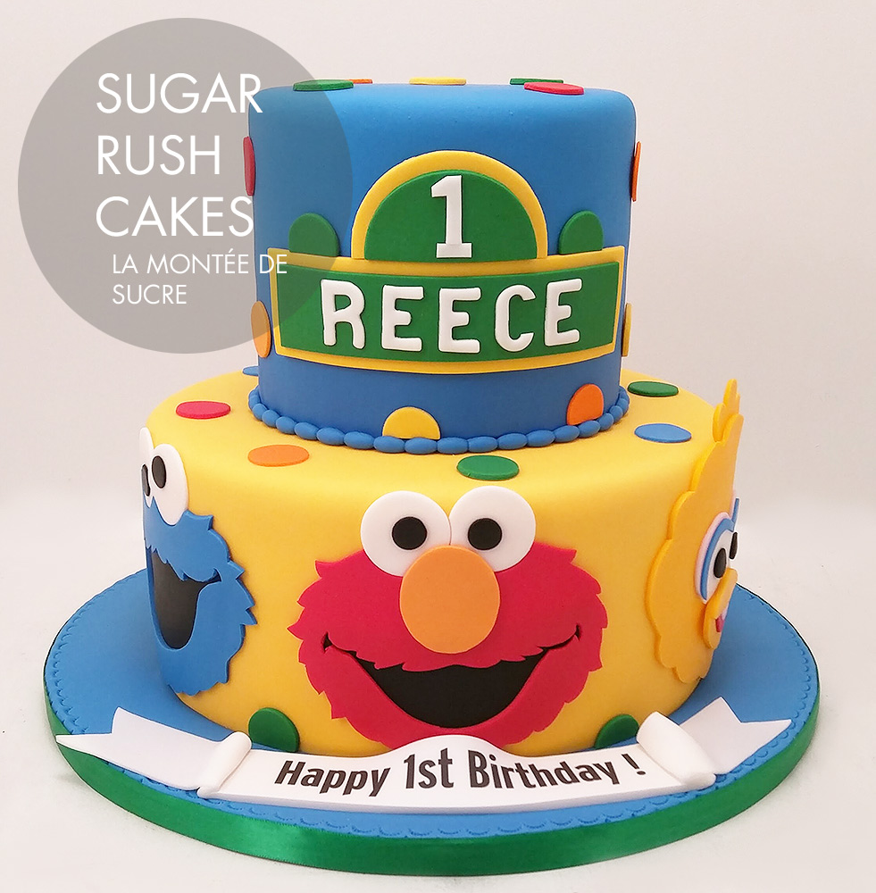 Excellent Sesame Street Elmo Cake Sugar Rush Cakes Personalised Birthday Cards Paralily Jamesorg