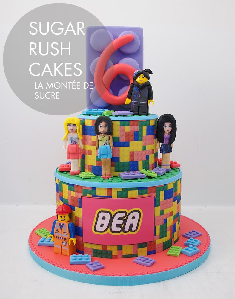Girly lego cake