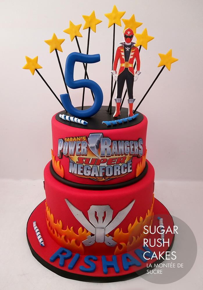 Stupendous Power Rangers Cake Sugar Rush Cakes Funny Birthday Cards Online Inifodamsfinfo