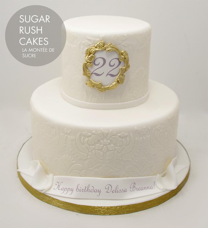 Damask Anniversary Cake