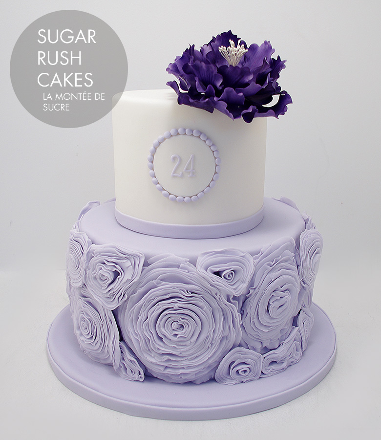 Ruffled Roses cake
