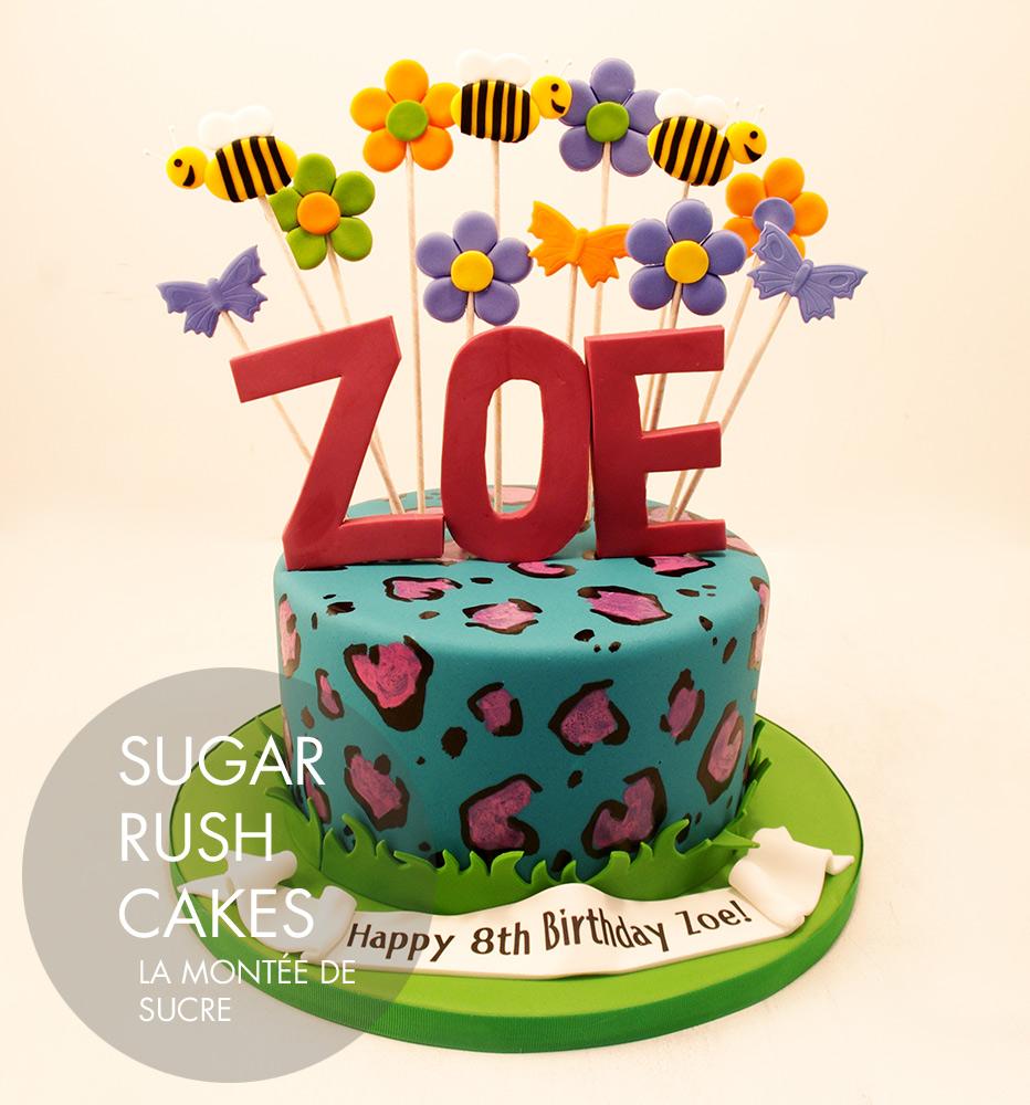Zoe Leopard print cake