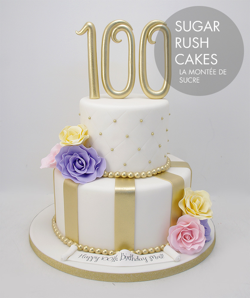 Astounding 100Th Anniversary Cake Sugar Rush Cakes Birthday Cards Printable Riciscafe Filternl