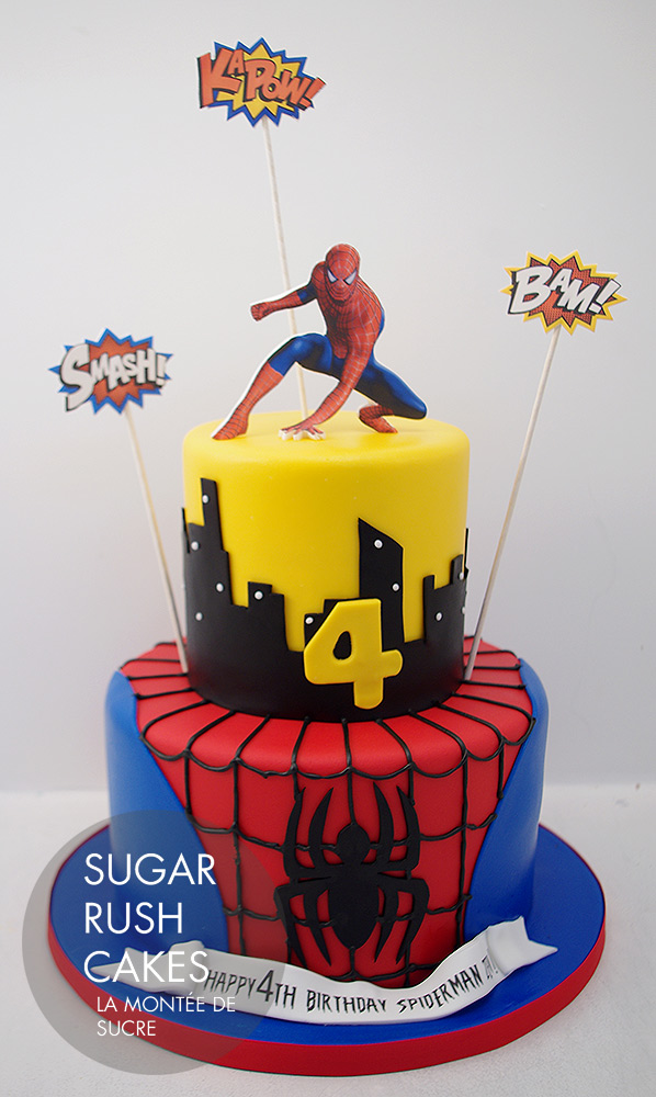 Magnificent Spider Man Birthday Cake Sugar Rush Cakes Personalised Birthday Cards Paralily Jamesorg