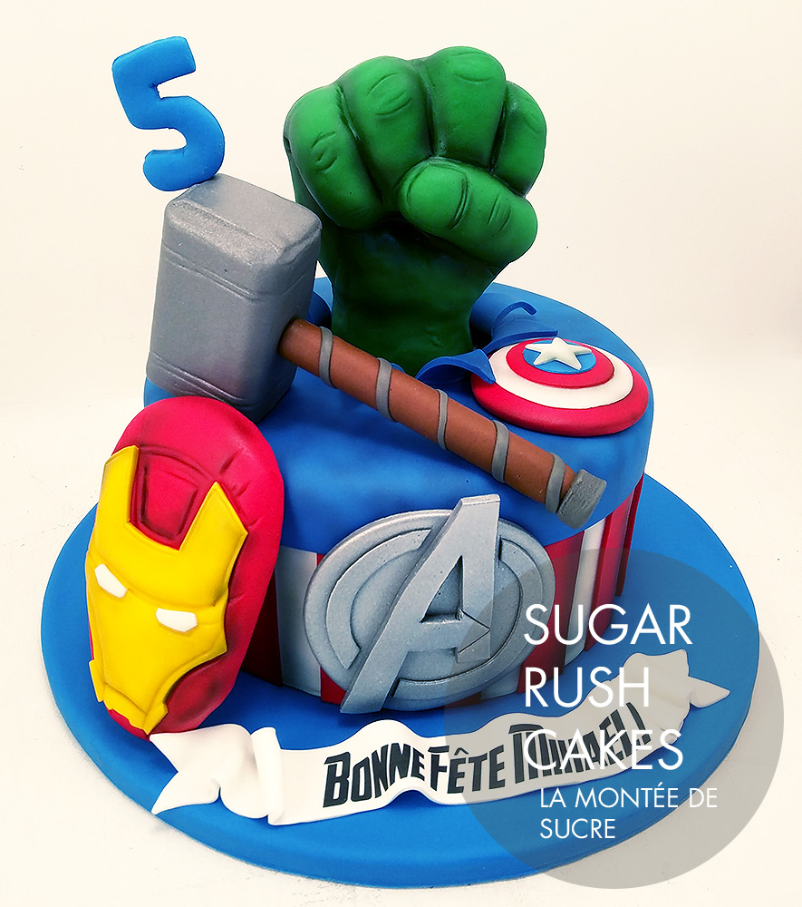 The Avengers birthday cake