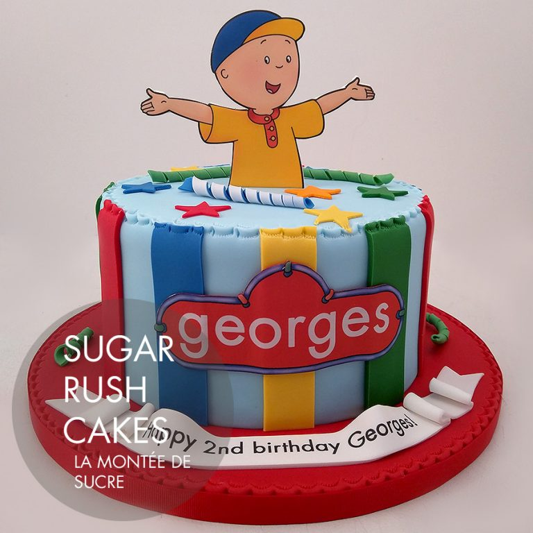 Cool Caillou Cake For 8 Sugar Rush Cakes Funny Birthday Cards Online Alyptdamsfinfo