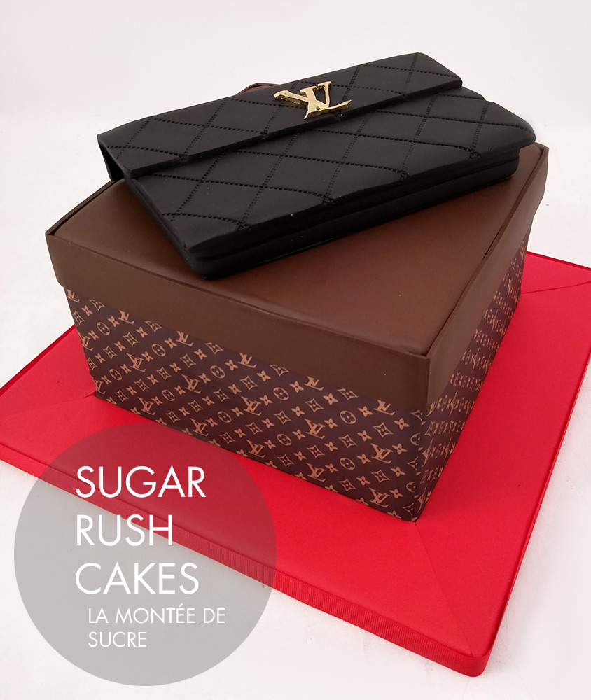 Louis Vuitton clutch cake