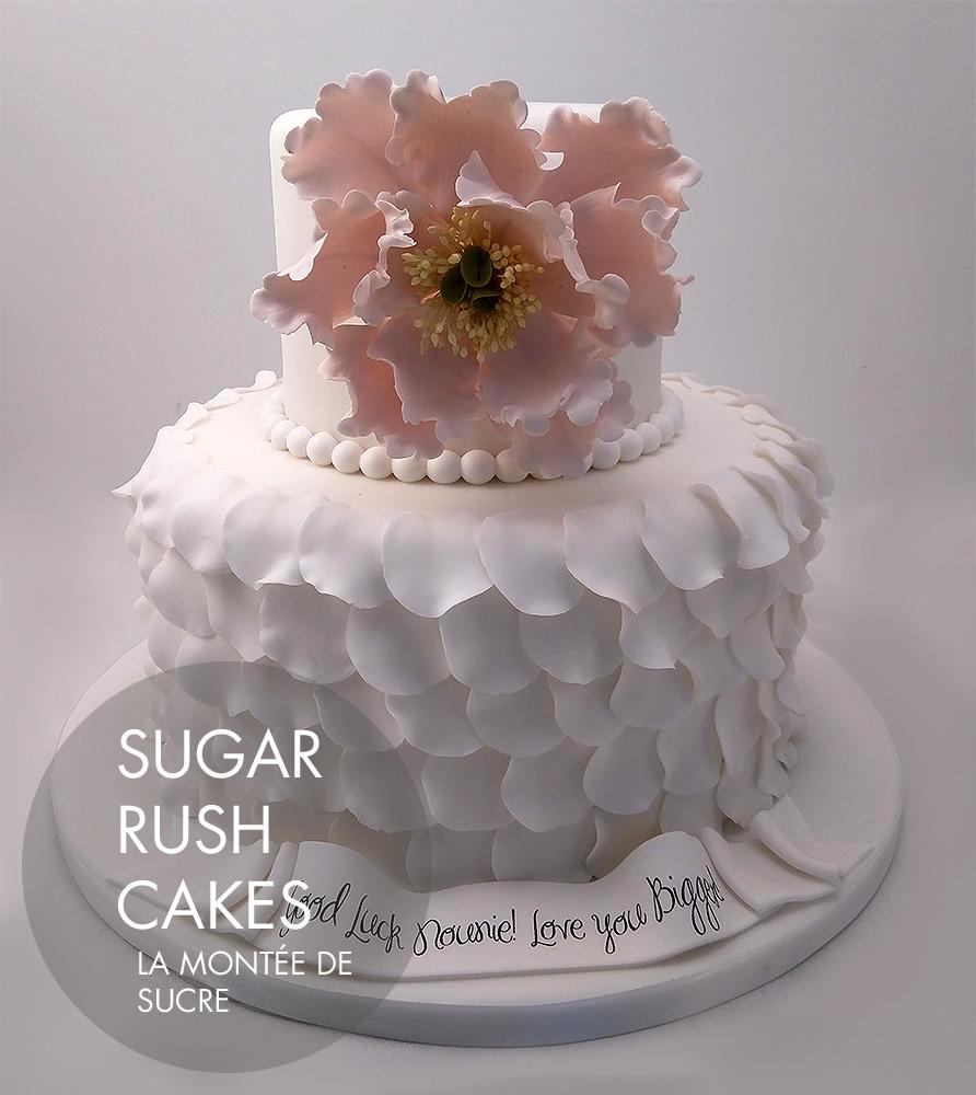 elegant peonies cake