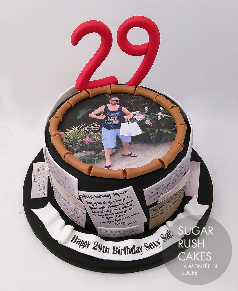 personalized messages cake