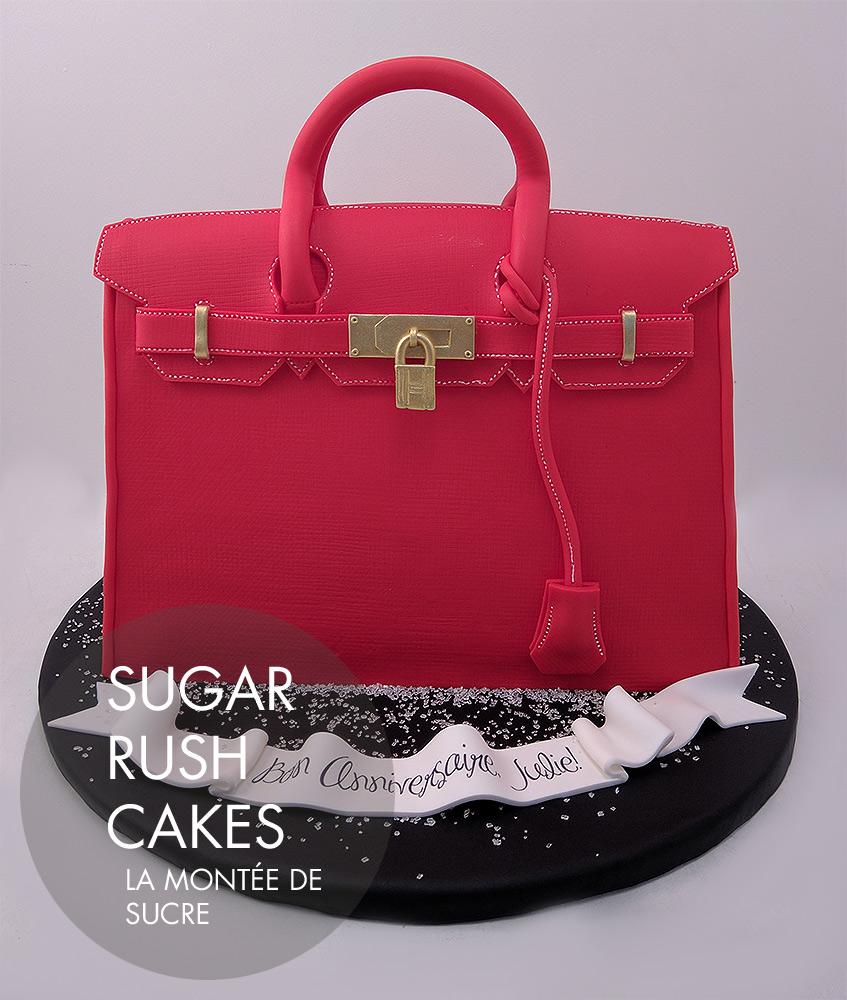 hermes birkin cake