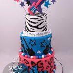 rocker girl cake