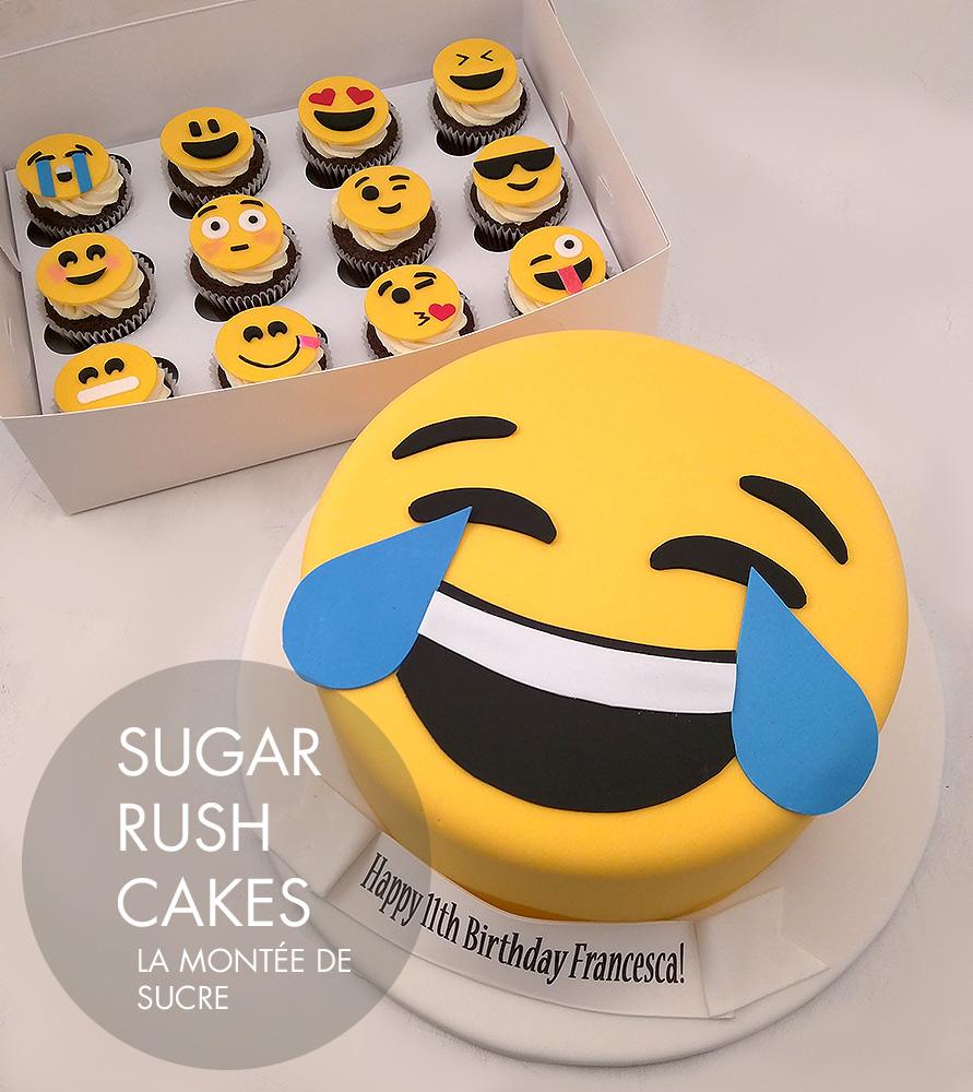 Laughing Tears emoji cake