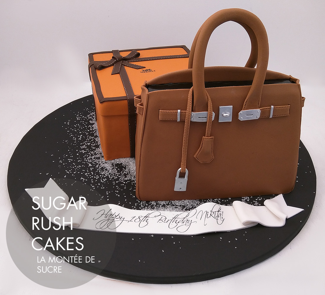Hermes handbag and box cake