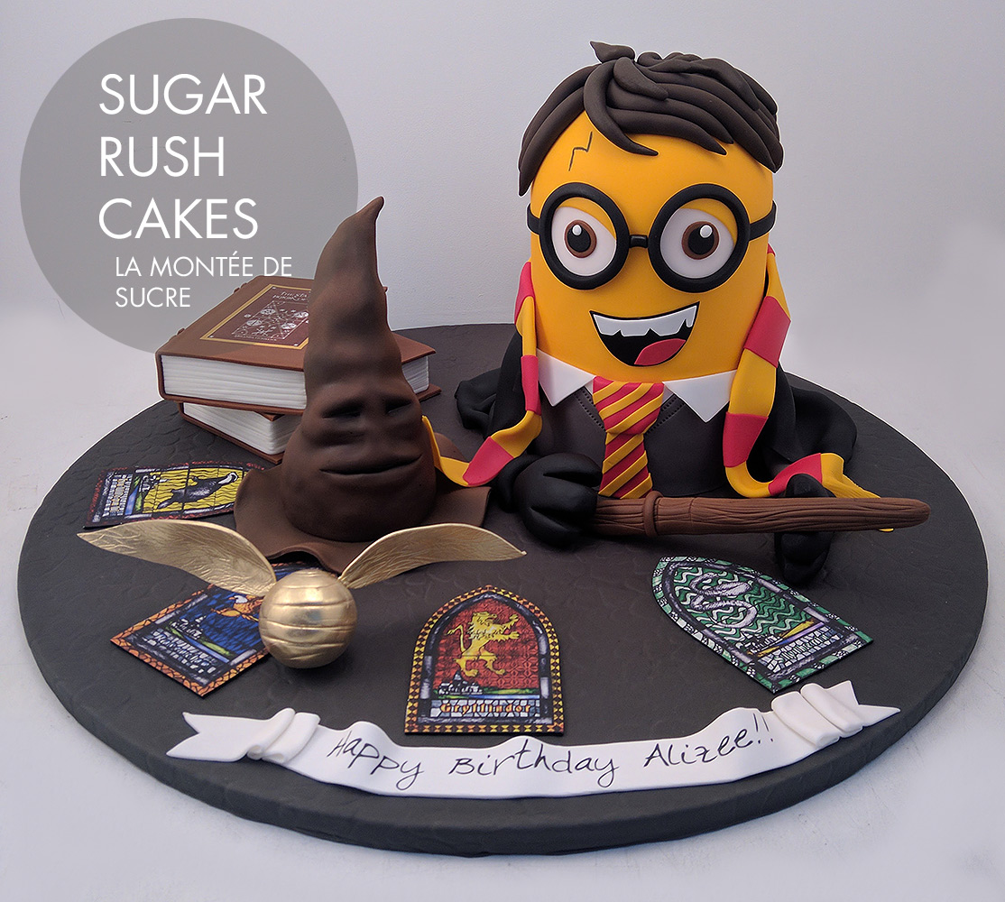 Minion Harry Potter cake