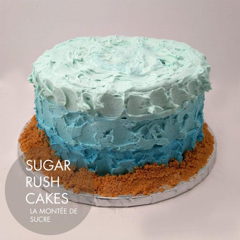 Buttercream ocean cake