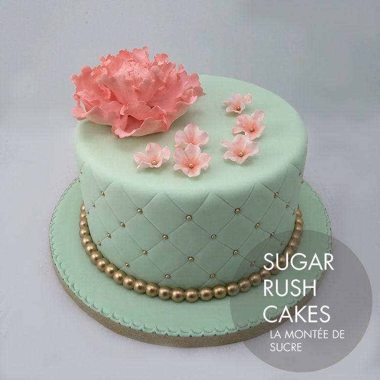 mint flower cake