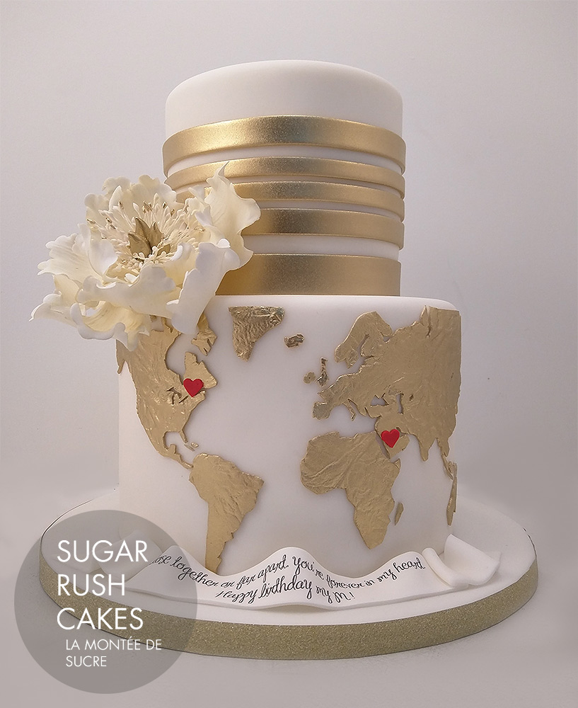 World map wedding cake | Sugar Rush Cakes on map quotes, map making, map for us, map with title, map project ideas, map cincinnati ohio, map in europe, map guest book, map my route, map party decor, map with mountains, map niagara on the lake, map in spanish, map from mexico, map with states, map facebook covers, map themed paper products, map timbuktu, map photography, map of the,