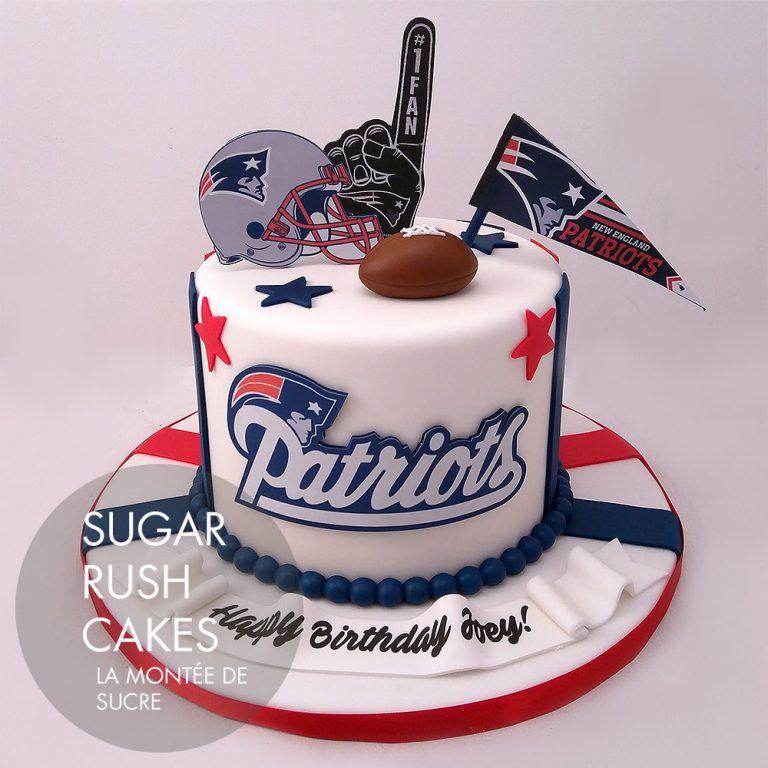 Amazing Patriots Fan Cake Sugar Rush Cakes Funny Birthday Cards Online Elaedamsfinfo