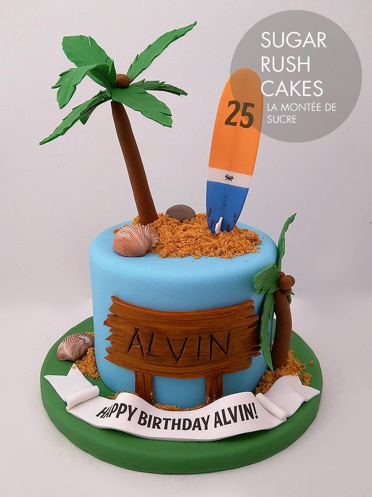 Surf bum cake